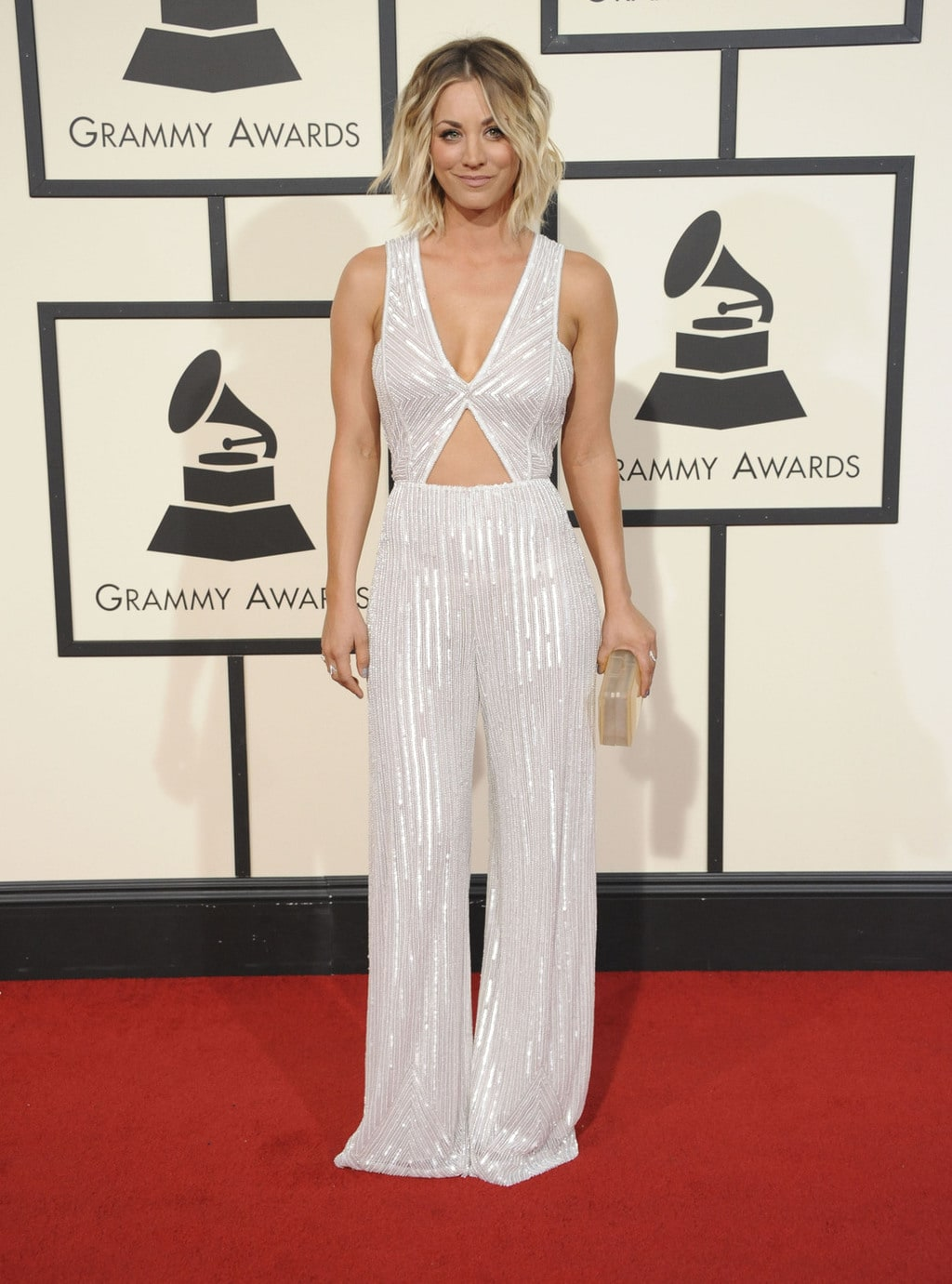 Kaley Cuoco in Naeem Khan at the 2016 Grammy Awards