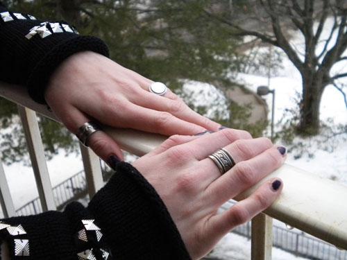 Wesleyan University style - rings