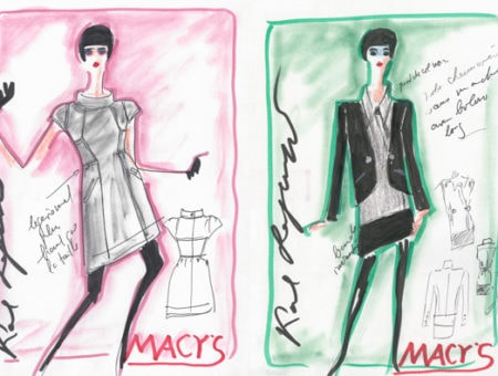 Karl Lagerfeld for Macy's Sketches