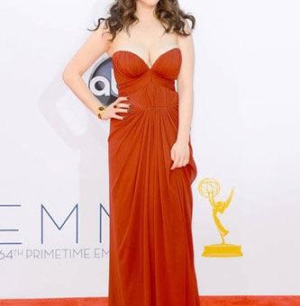 Kat Dennings at the 2012 Emmy Awards