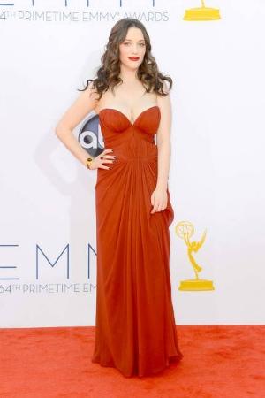 Kat Dennings in J. Mendel at the 2012 Emmy Awards
