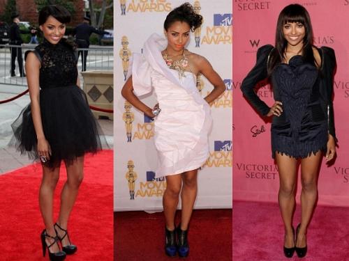 Kat Graham's Voluminous Dresses