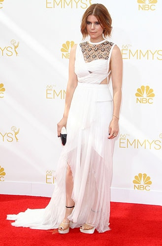 Kate Mara in J. Mendel at the 2014 Emmy Awards