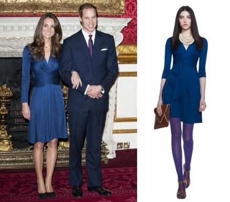 Kate Middleton engagement dress Banana Republic
