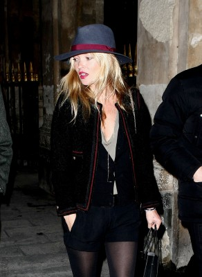 The always stylish kate moss treats herself to some retail therapy during paris fashion week