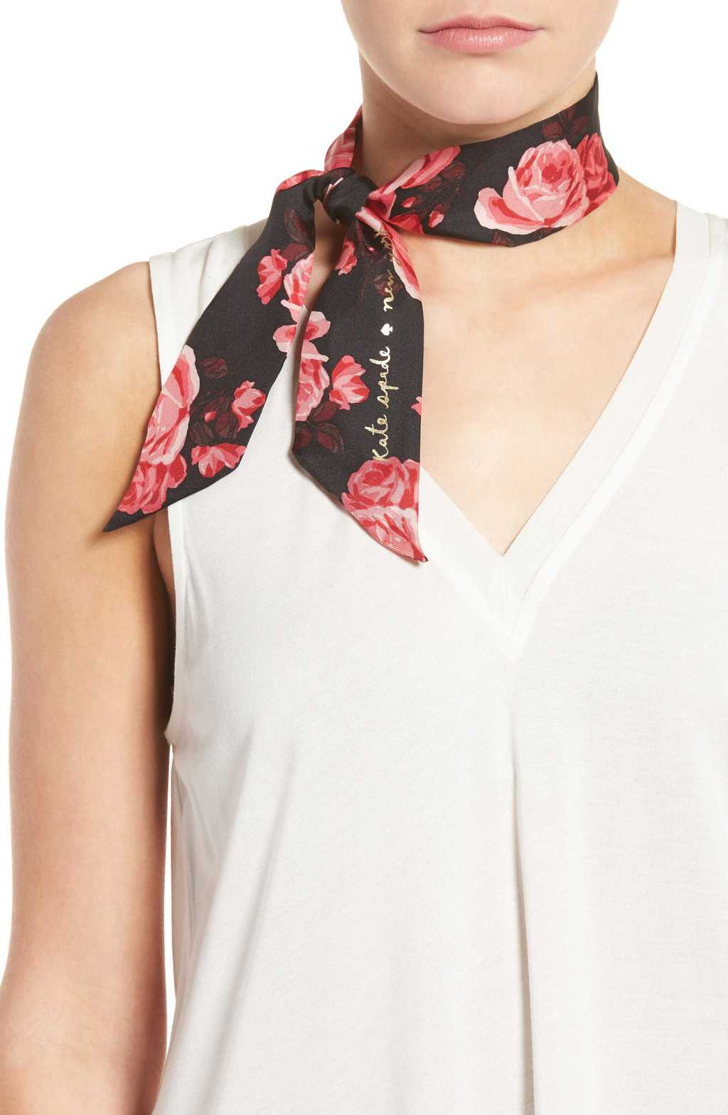 Kate Spade rose printed scarf from Nordstrom