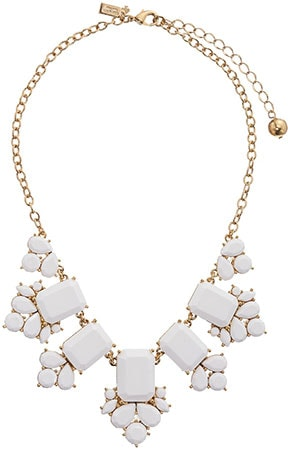 Kate Spade white statement necklace