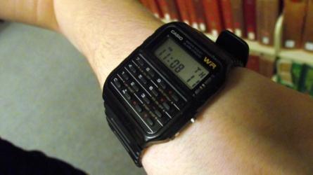 Calculator watch at Loyola University Chicago