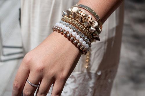 stacked bracelets at unlv