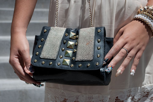 Studded Leather Purse at unlv