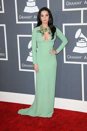 Katy Perry in Gucci at the 2013 Grammys
