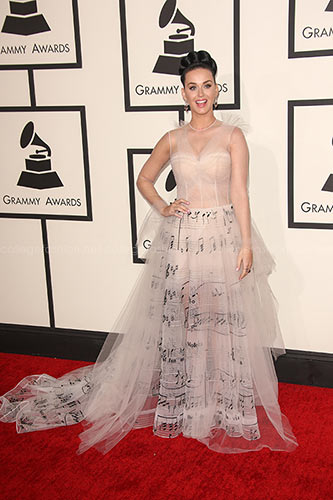 Katy Perry in Valentino Couture at the 2014 Grammy Awards