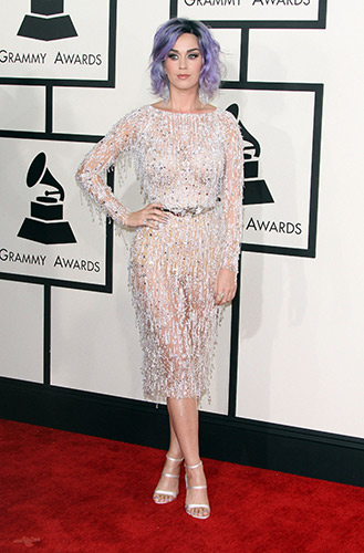Katy Perry in Zuhair Murad Couture at the 2015 Grammys