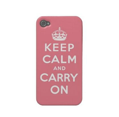 Keep Calm & Carry On iPhone Case