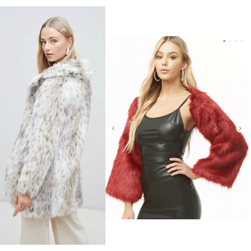 How to copy Kendall Jenner's style: Faux fur coats in white/cream and red