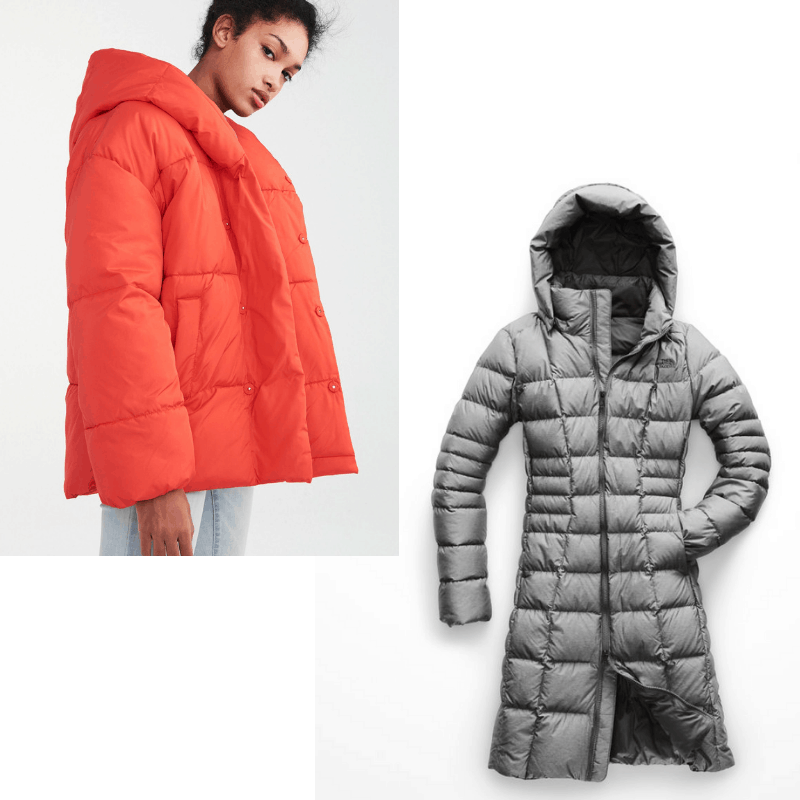 Kendall Jenner style - puffer coats