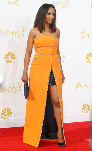 Kerry Washington in Prada at the 2014 Emmy Awards