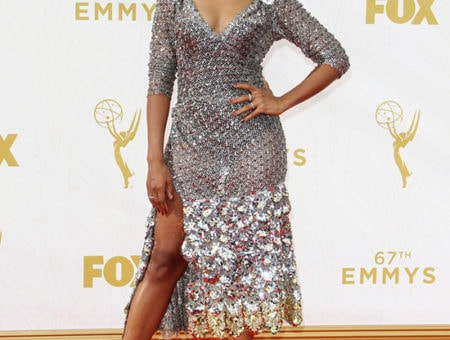 Kerry Washington in Marc Jacobs at the 2015 Emmy Awards