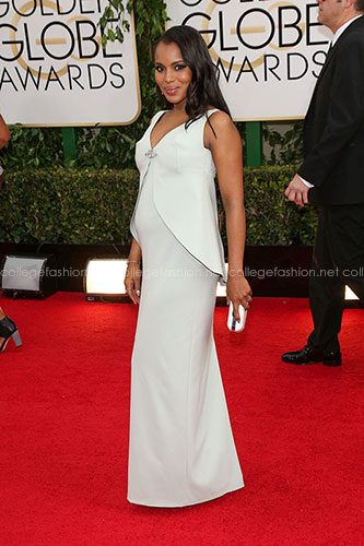 Kerry Washington in custom Balenciaga at the 2014 Golden Globes