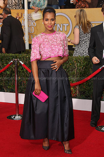 Kerry Washington in Custom Prada at the 2014 SAG Awards