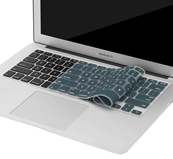 blue silicone laptop skin