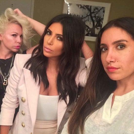 Makeup artist Joyce Bonelli, Kim Kardashian, and Jen Atkin