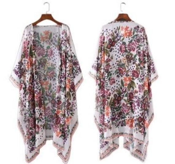 walmart long floral kimono
