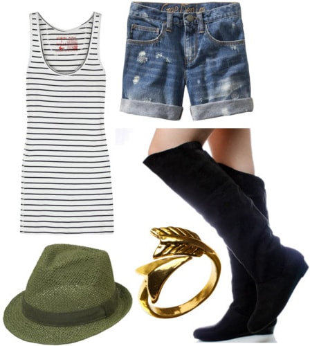 How to wear knee high boots in summer with shorts