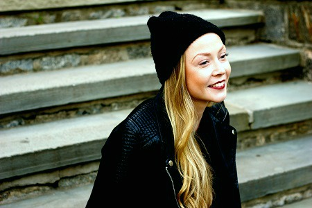 Knit beanie college street style trend