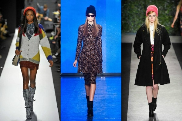 Knit beanies on the fall 2013 runways