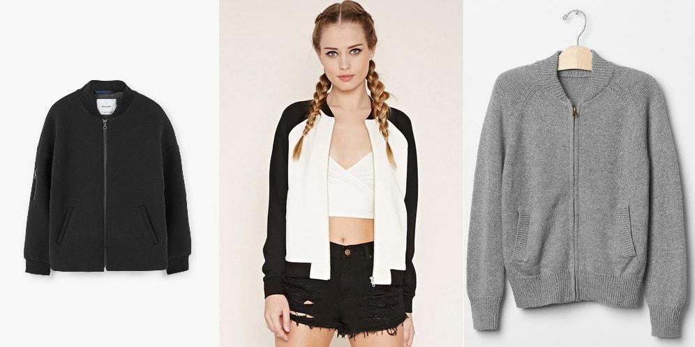 Knit bomber jackets