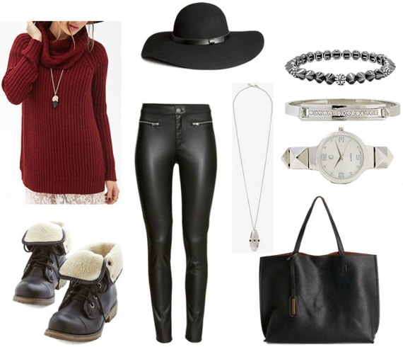 Knit turtleneck class outfit