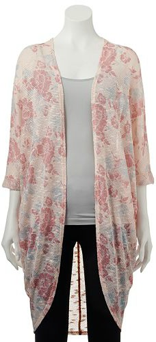 Kohl's floral cocoon cardigan