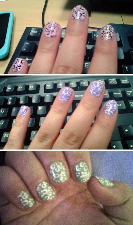 Konad nail stamping results