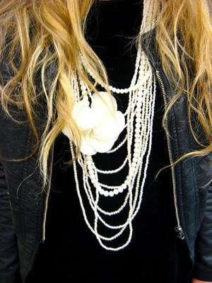 Kristen's floral necklace