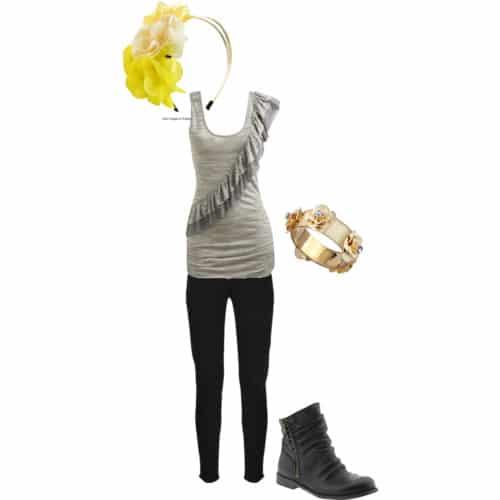 Feminine way to wear florals