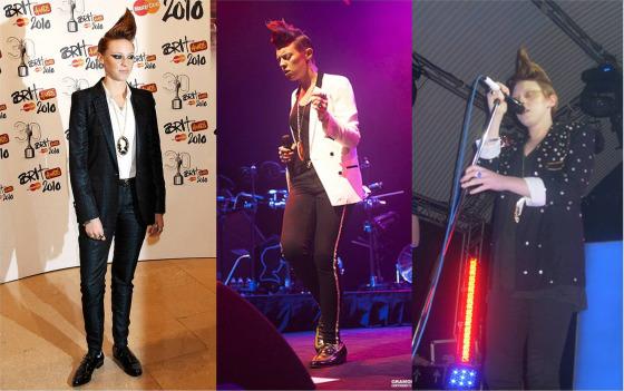La Roux wearing blazers