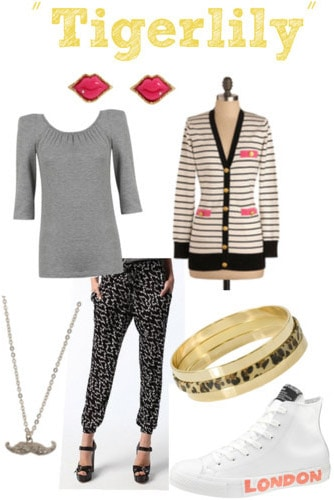 Outfit inspired by La Roux Tigerlily