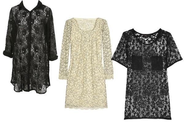 Lace Dresses & Tops