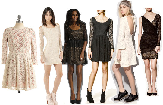 Lace dresses for holiday parties