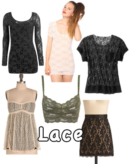 How to wear the lace fashion trend for fall
