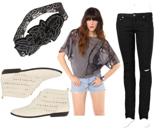 Casual outfit to wear on campus - how to wear lace