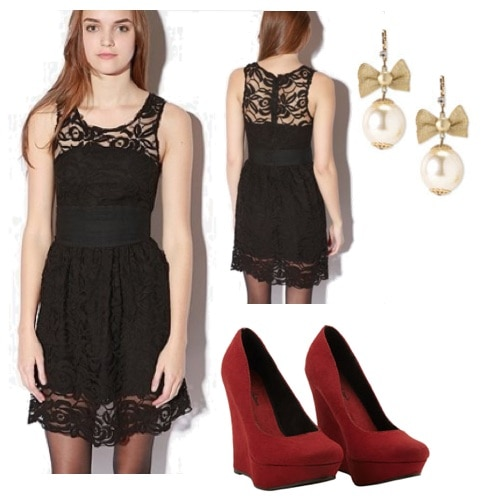 lace dress 2 outfit