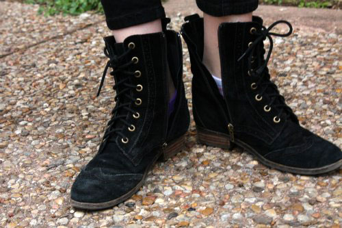 Lace up boots trend at the University of Texas at Austin
