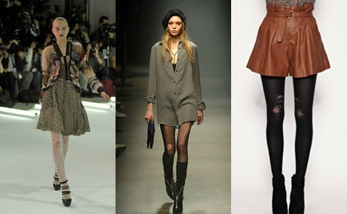 Laddered Tights Trend