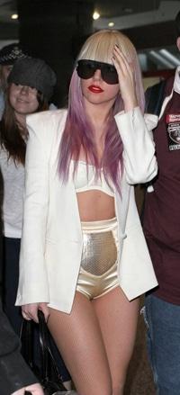 Lady Gaga with Lavender Hair