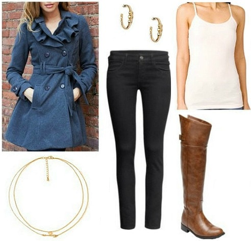 Ladylike trench outfit