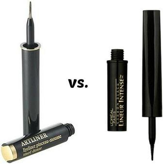 Lancome liquid artliner eyeliner pen vs. l'oreal lineur intense
