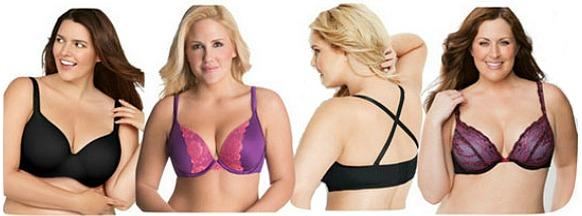 Lane bryant and avenue plus size bras