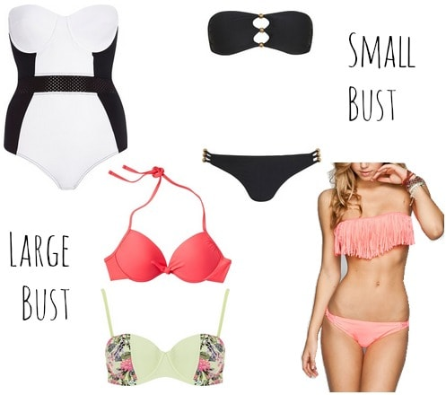 Large or small bust swimwear